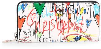 Christian Louboutin Panettone white loubitag wallet