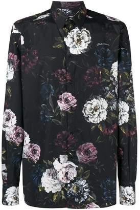 Dolce & Gabbana peony print Martini-fit shirt