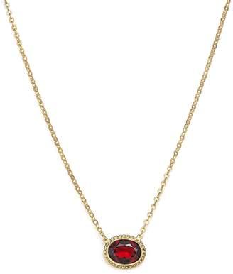Bloomingdale's Garnet Bezel Pendant Necklace in 14K Yellow Gold, 18 - 100% Exclusive