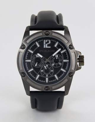 Police Quartz Watch With Black Dial