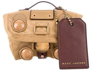 Marc Jacobs 2015 Mini Trooper Small Studded Woven Crossbody Bag