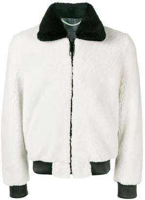 Off-White shearling bomber jacket