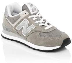 New Balance W574 Suede Lace-Up Sneakers