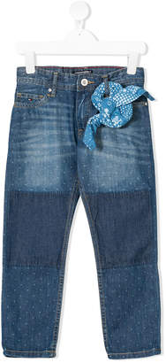 Tommy Hilfiger Junior dot-print straight jeans