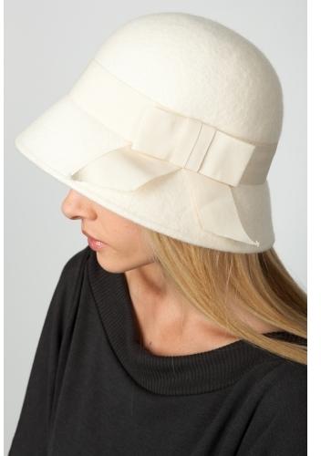 Bow Tie Felt Cloche Hat