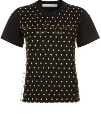 Philosophy di Lorenzo Serafini Embroidered Mesh Layer T-Shirt