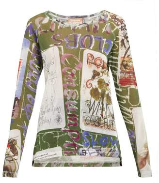 Vivienne Westwood Playing Cards Cotton Blend Mesh T Shirt - Womens - Multi