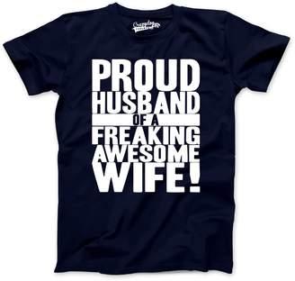 Crazy Dog T-shirts Crazy Dog Tshirtsens Proud Husband of a Freaking Awesoe Wife Funnyarriage T shirt