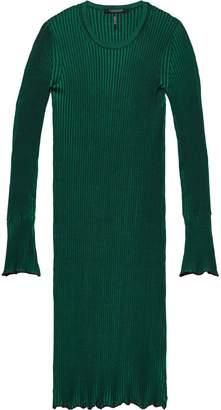 Scotch & Soda Rib Knitted Sweatshirt Dress