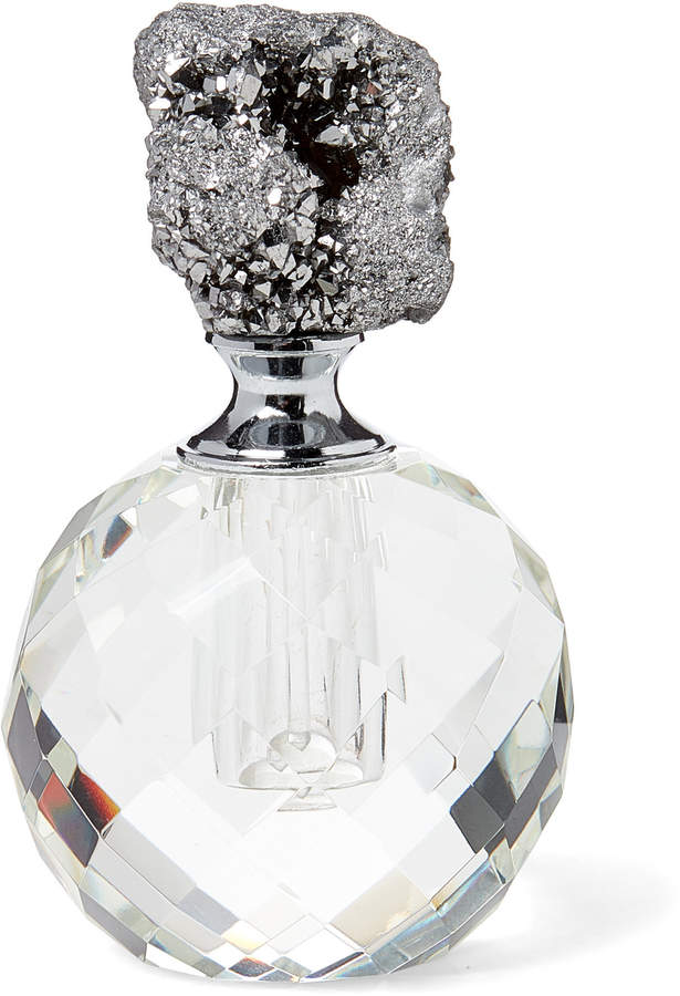 American Atelier Silver-Tone Agate Perfume Bottle