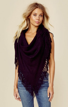 Minnie rose cashmere fringe shawl $308 thestylecure.com