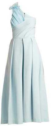 Preen by Thornton Bregazzi Ted Asymmetric Bodice Cady Midi Dress - Womens - Light Blue