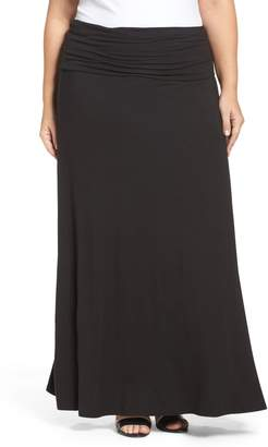Loveappella Fold Over Maxi Skirt