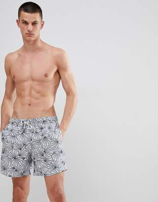 The Endless Summer Vintage Summer Swim Shorts with Shell Print