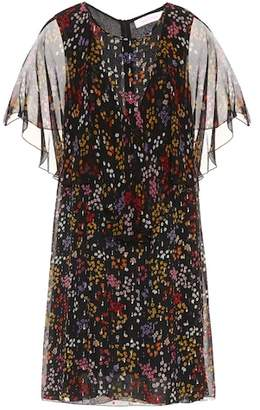 See by Chloe Floral-printed fil coupé silk dress