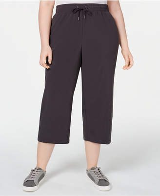 Ideology Plus Size Recycled Woven Wide-Leg Pants