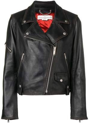 Golden Goose fitted biker jacket