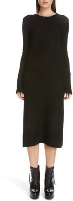 Acne Studios Kathilde Long Sleeve Midi Sweater Dress