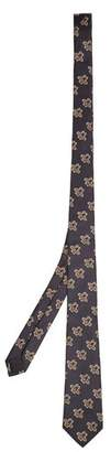 Gucci Bee Jacquard Silk Tie - Mens - Navy Multi