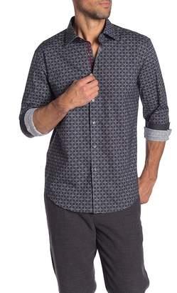 Bugatchi Checkered Long Sleeve Shaped Fit Shirt