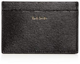 Paul Smith Color-Block Embossed Leather Card Case