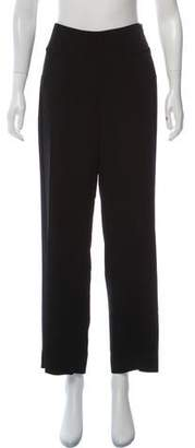 Armani Collezioni Virgin Wool Mid-Rise Pants