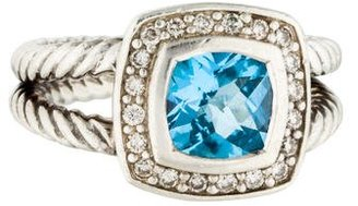 David Yurman Topaz & Diamond Petite Albion Ring $345 thestylecure.com