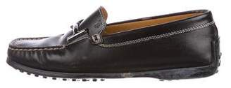 Tod's Leather Logo Loafers