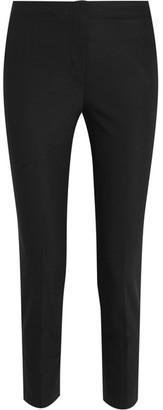 Helmut Lang - Cropped Crepe Slim-leg Pants - Black $360 thestylecure.com