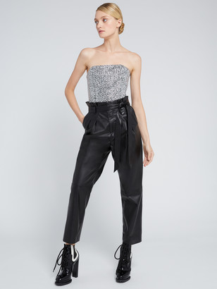 Alice + Olivia SARAPHINA CRYSTAL CROPPED BUSTIER