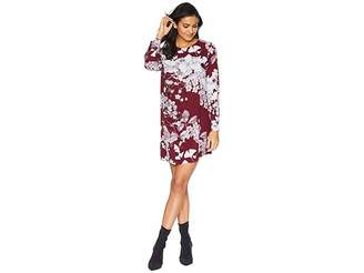 BCBGMAXAZRIA Ashton Long Sleeve Asymmetric Dress Women's Dress