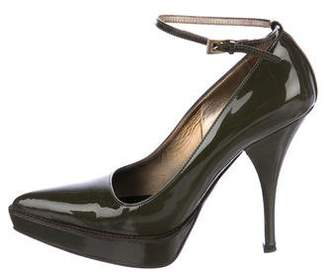 Prada Patent Leather Ankle-Strap Pumps