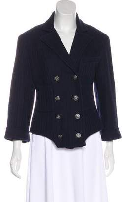 Chanel Woven Double-Breasted Jacket