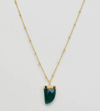 Orelia gold plated single tusk pendant necklace