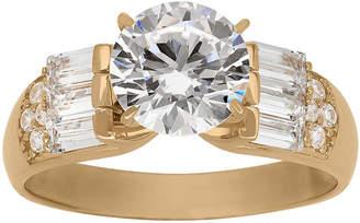 FINE JEWELRY Diamonart Womens 3 CT. T.W. Lab Created White Cubic Zirconia 10K Gold Engagement Ring