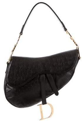 Christian Dior Ostrich Saddle Bag