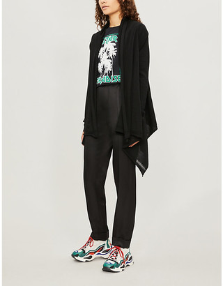 Zadig & Voltaire Waterfall-front wool cardigan