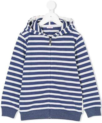 Il Gufo striped zipped hoodie