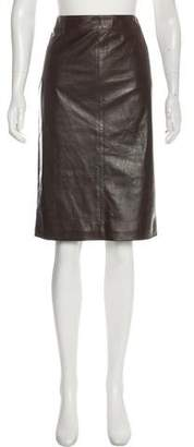 Christian Dior Leather Pencil Skirt