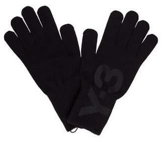 Y-3 Logo Rib Knit Gloves w/ Tags