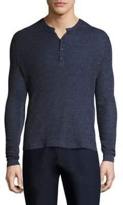 Ovadia & Sons Zack Waffle Knit Merino Wool Sweater