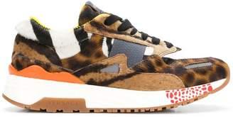 Versace leopard print sneakers