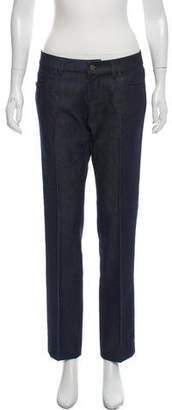 Prada Mid-Rise Wool Jeans