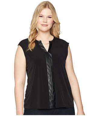 Calvin Klein Plus Plus Size Sleeveless V-Neck Chain Top