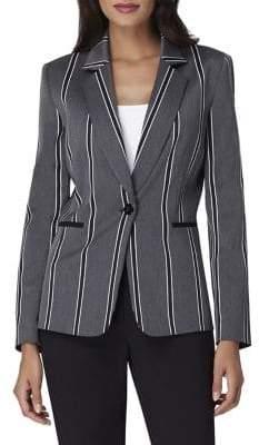 Tahari Arthur S. Levine Variegated Stripe Jacket