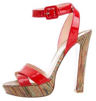 Christian Louboutin Christian Louboutin Patent Leather Platform Sandals