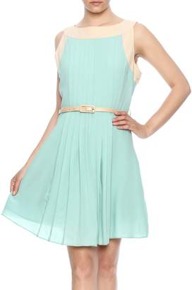 Darling Sleeveless Pleated Dress