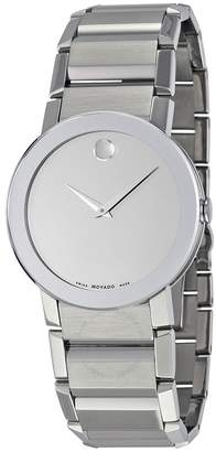 Movado Sapphire Silver Mirror Dial Men's Watch