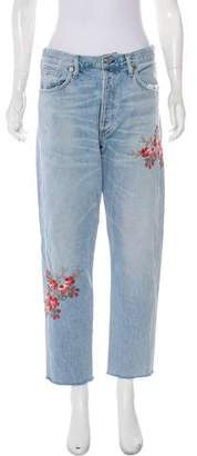 Citizens of Humanity High-Rise Embroidered Jeans