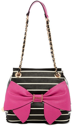 Betsey Johnson Oh Bow You Didn&t Satchel $118 thestylecure.com